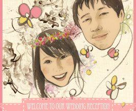 ウェルカムボード『Masato&Rina』