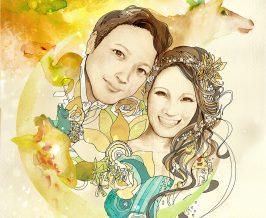 ウェルカムボード『Tomohiro&Mari』