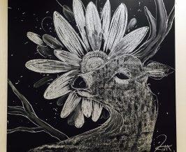 黒板アート『意識』