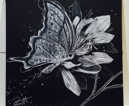 黒板アート『同化』