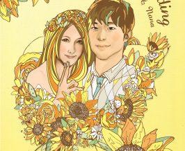ウェルカムボード『Yuichiro&Nana』