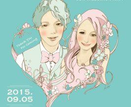 ウェルカムボード『Yuhei&Nana』