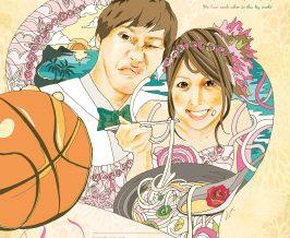ウェルカムボード『Masaki&Mai』