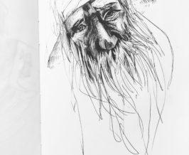 ペン画『クラゲ』