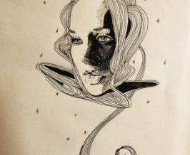 ペン画『space』