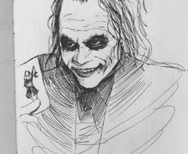 ペン画『ジョーカー』