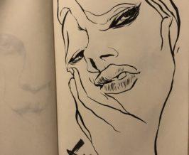 筆ペン『ゆがみ』