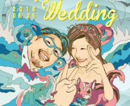 ウェルカムボード『Yosuke & Ruriko』